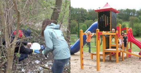 Direkt neben dem Kinder-Spielplatz: Papa macht grausamen Fund!