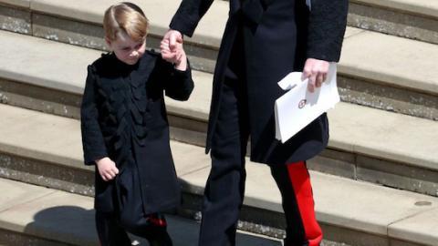Royale Hochzeit: Was war da bloß mit Prinz Georges Hose los?