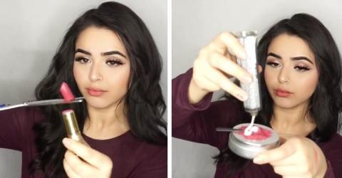 Sie hat etwas Geniales mit ihrem Lippenstift vor! Der perfekte Beauty-Tipp!