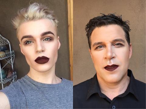 Dieser junge Youtuber schminkt seinen Vater. Der Grund ist herzerwärmend