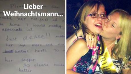 Rührender Brief eines Mädchens an den Weihnachtsmann.