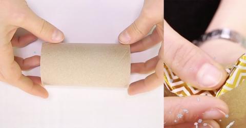 Weihnachten: Sie nimmt eine alte Papprolle und bastelt daraus etwas Erstaunliches