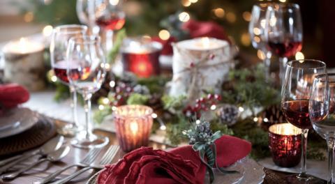 Deko-Ideen für die Festtafel an Heiligabend