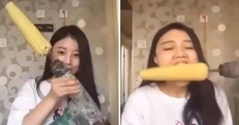 """Die """"Corn drill challenge"""": Für sie endet sie schmerzhaft"""