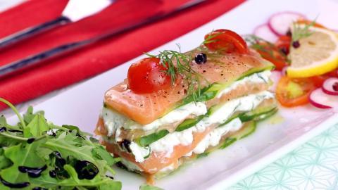 Lachs-Millefeuilles mit Ziegenfrischkäse... eine leckere und ganz besondere Vorspeise!