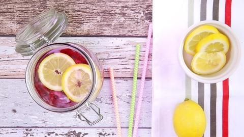 Himbeer-Zitronen-Wasser: Ein erfrischendes Getränke-Rezept für heiße Tage