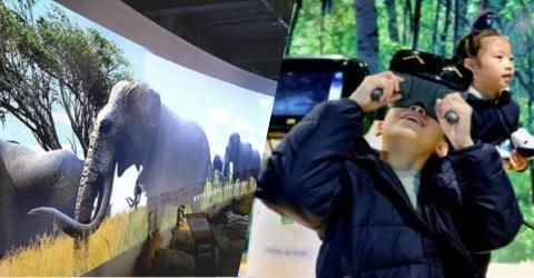 Zoo in China erschafft eine Anlage ohne lebende Tiere