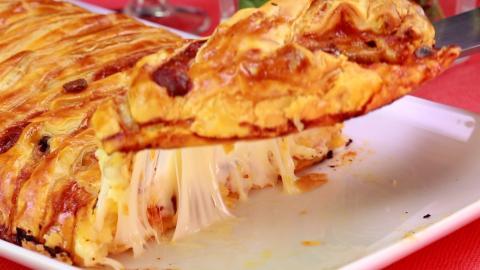 Rezept: Der Pizza-Calzone-Zopf ist nicht nur knusprig-leicht, sondern auch noch sehr lecker!