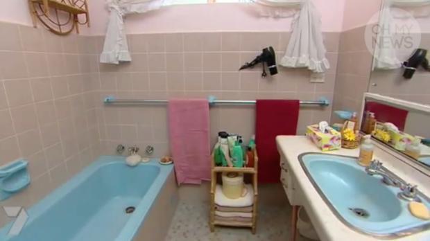 Verwandlung eines Badezimmers