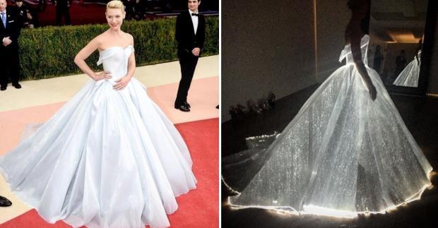Met Gala 2016: Das leuchtende Cinderella-Kleid von Claire ... Claire Danes Facebook