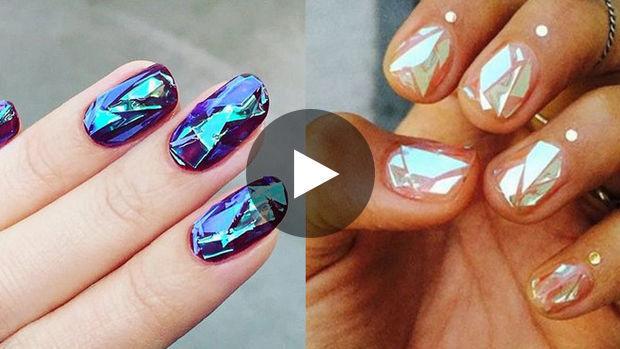glass nails der nail art trend der in den social media f r furore sorgt. Black Bedroom Furniture Sets. Home Design Ideas