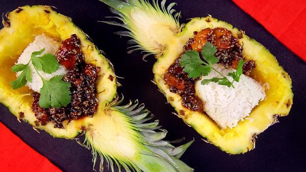 Teriyaki-Hähnchen mit Ananas
