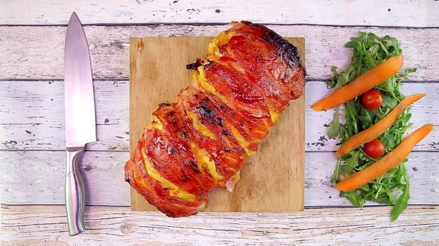 Makkaroni-Roulade mit Schinken und Käse