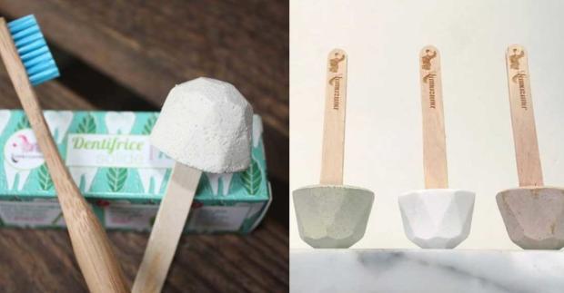 Zähne mit Kreide putzen