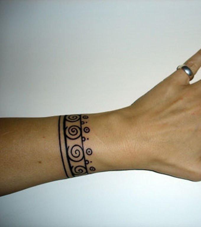 Mandala Bracelet Tattoo With Bow Mandalatattoo