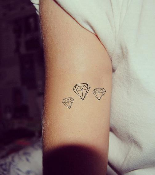 diamant-tattoo: 20 schöne tattoo-ideen zur inspiration