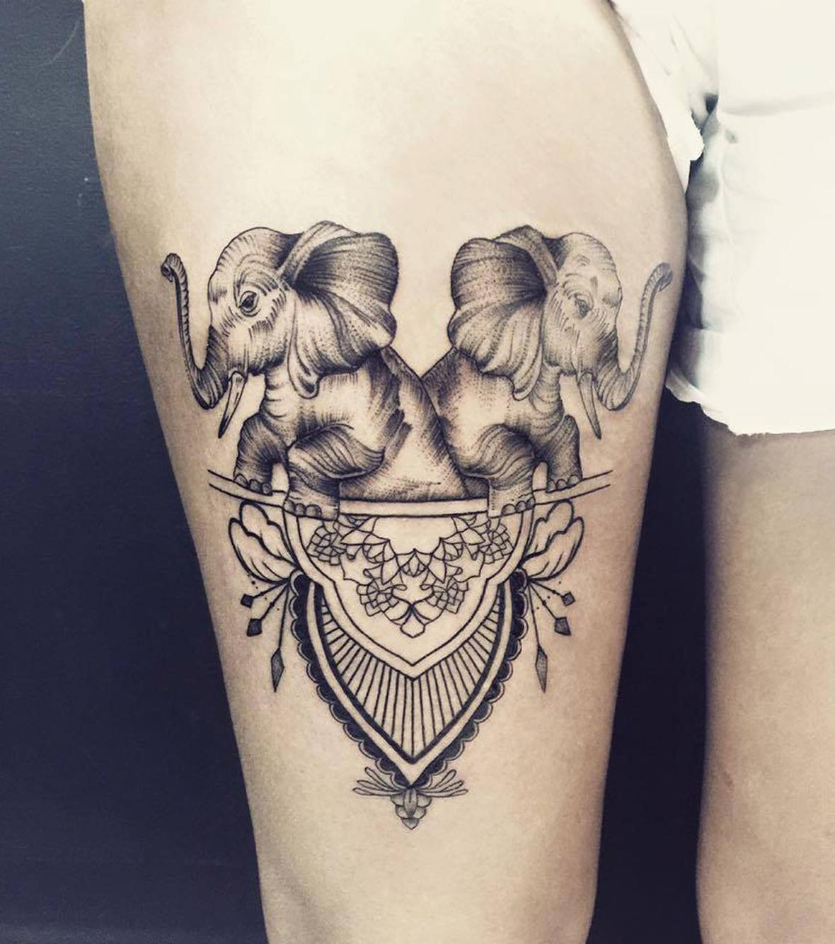 Elefant Tattoo 20 Tattoo Ideen für Frauen