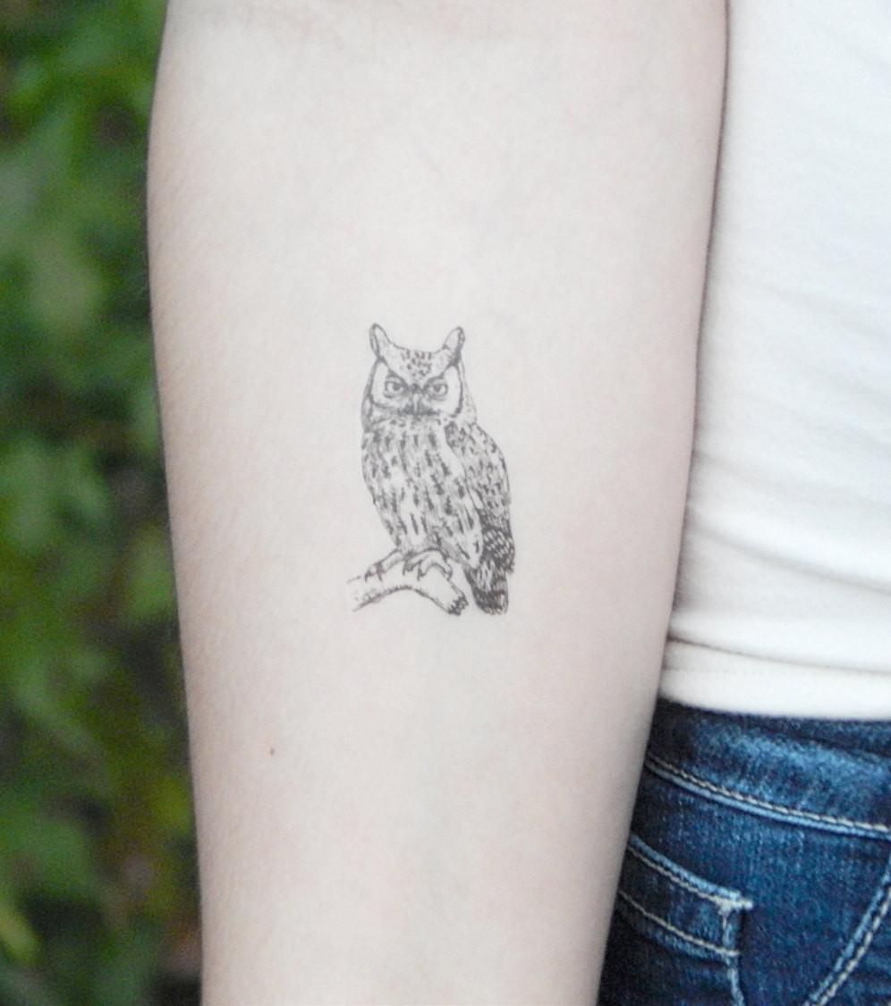 Eulen Tattoo 20 Süße Tattoo Ideen Für Alle Körperpartien
