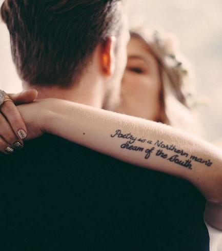 Tattoo arm frau spruch
