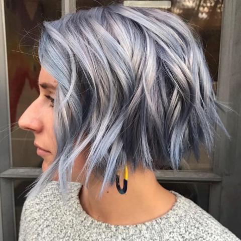 Haare färben kurze blau Kurze Haare