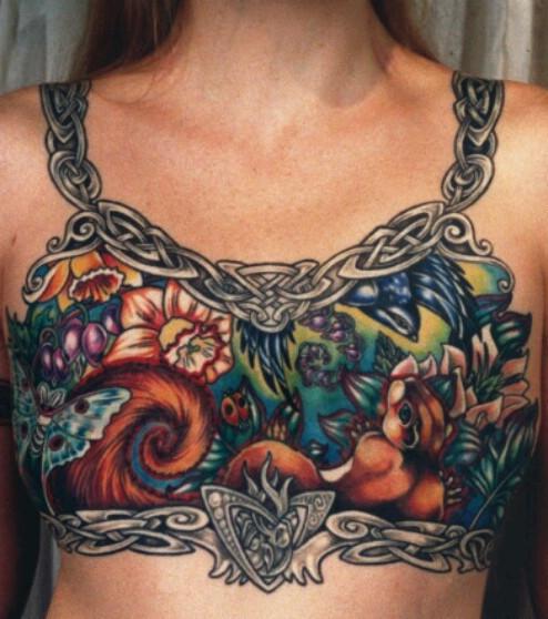 Bauch tattoo am narbe dermal anchor