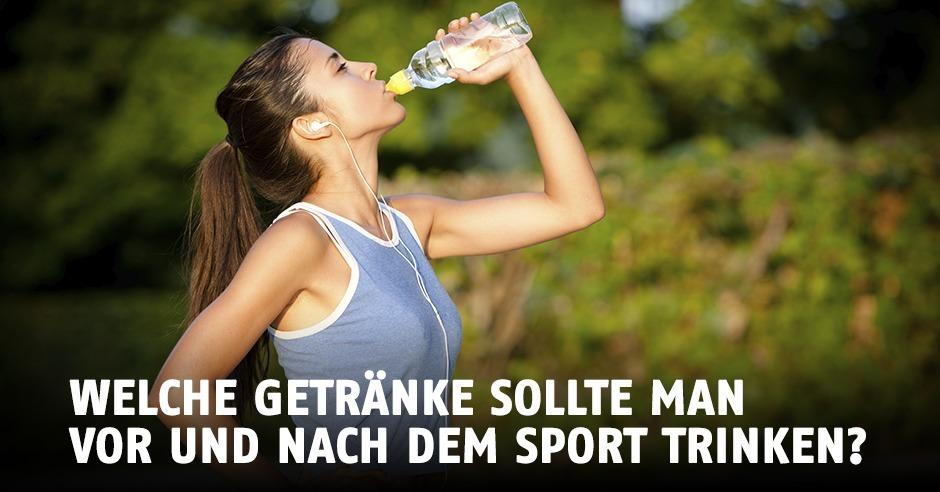 Welche Getränke solltest du vor und nach dem Sport zu dir nehmen?