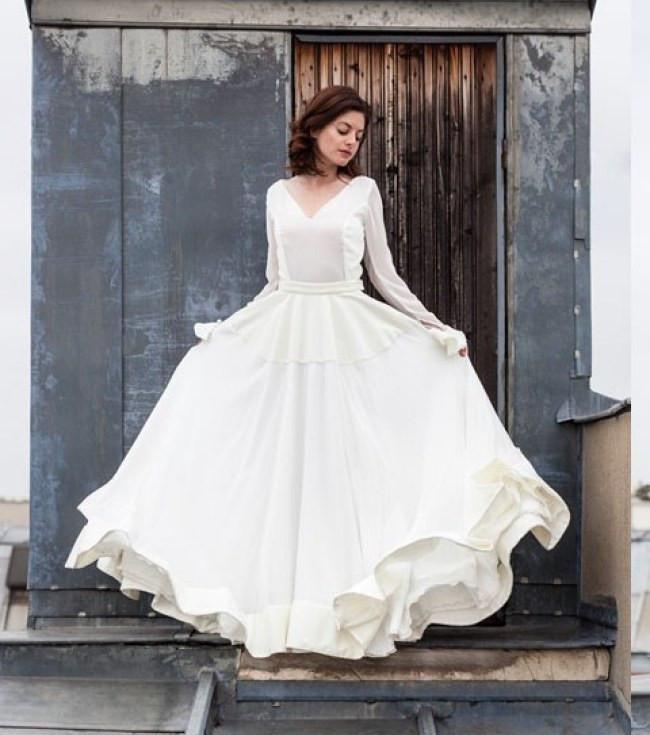 Auf Abstand wähle echt billiger Verkauf Hochzeitskleider 2016 : Die schönsten langärmeligen Kleider
