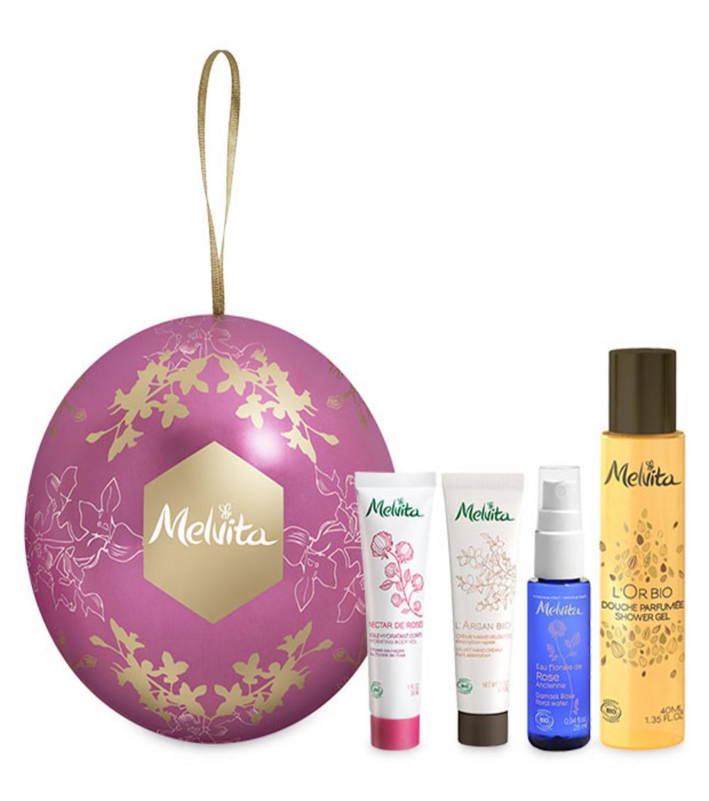 Melvita: Weihnachtskugel-Geschenkset, 12 Euro