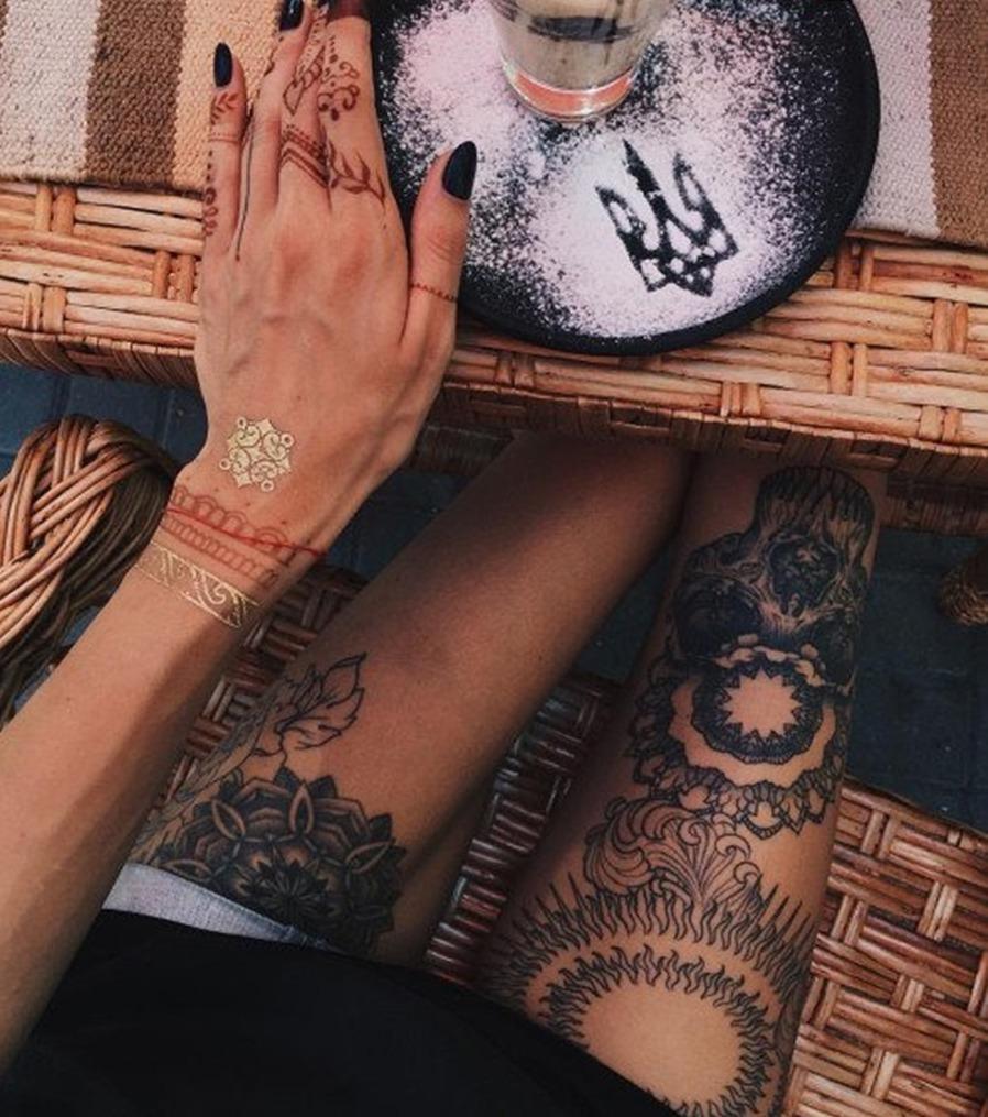 Bein Tattoo 10 Inspirierende Bein Und Oberschenkel Tattoos Für Frauen