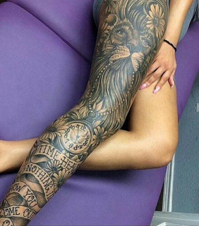 Bein Tattoo 10 Inspirierende Bein Und Oberschenkel Tattoos Fur Frauen