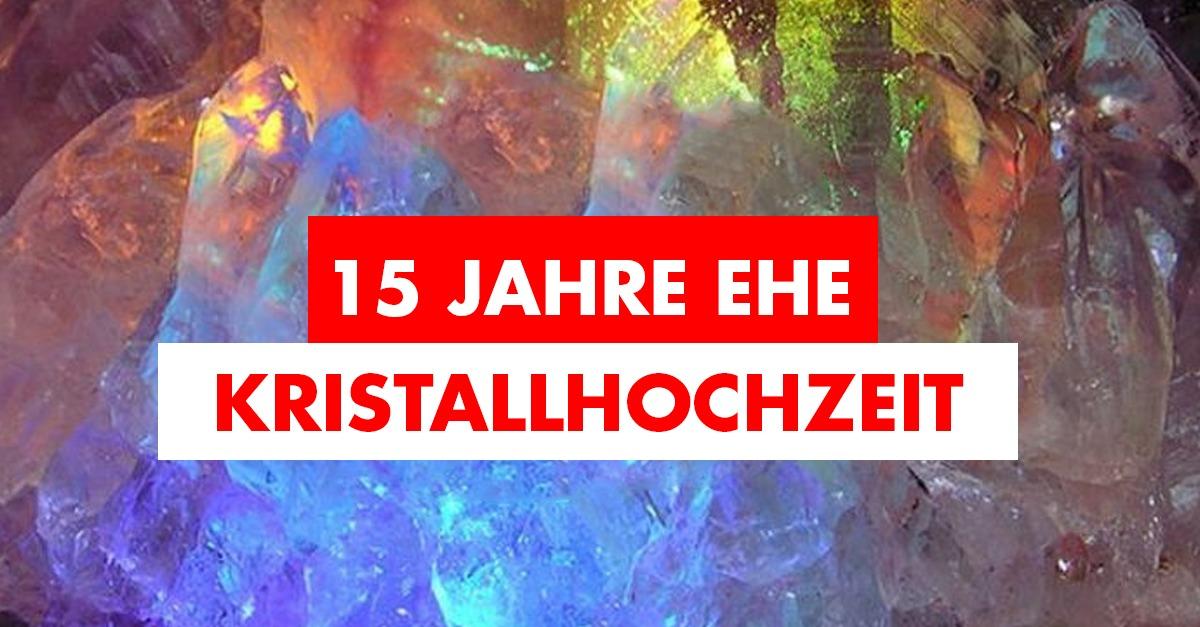 15. Hochzeitstag / Kristallhochzeit: Geschenkidee, Feier