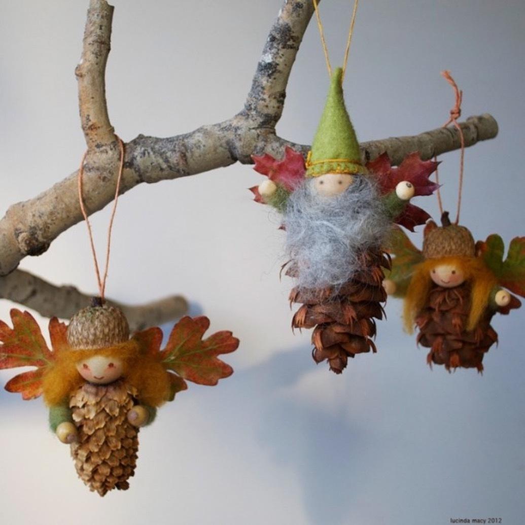 Herbstdeko Susse Basteleien Aus Zapfen