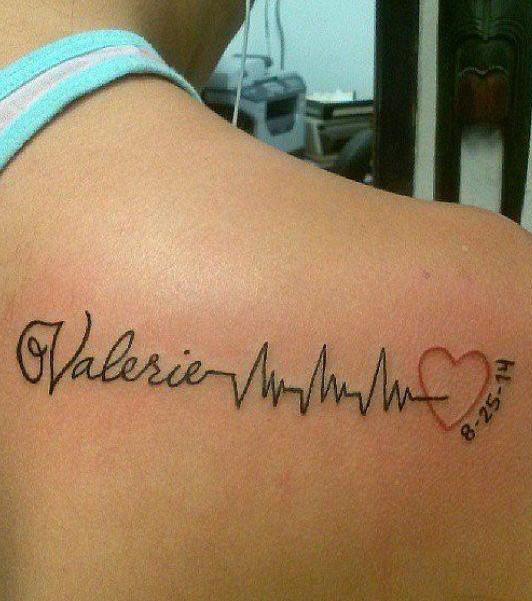 Tattoos Mit Vornamen Können überall Gut Aussehen