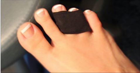 Fuß tapen high heels