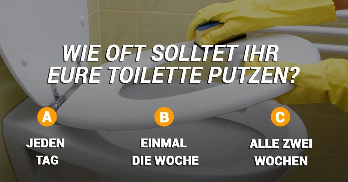 Wie oft, denkt ihr, solltet ihr eure Toilette putzen? Die