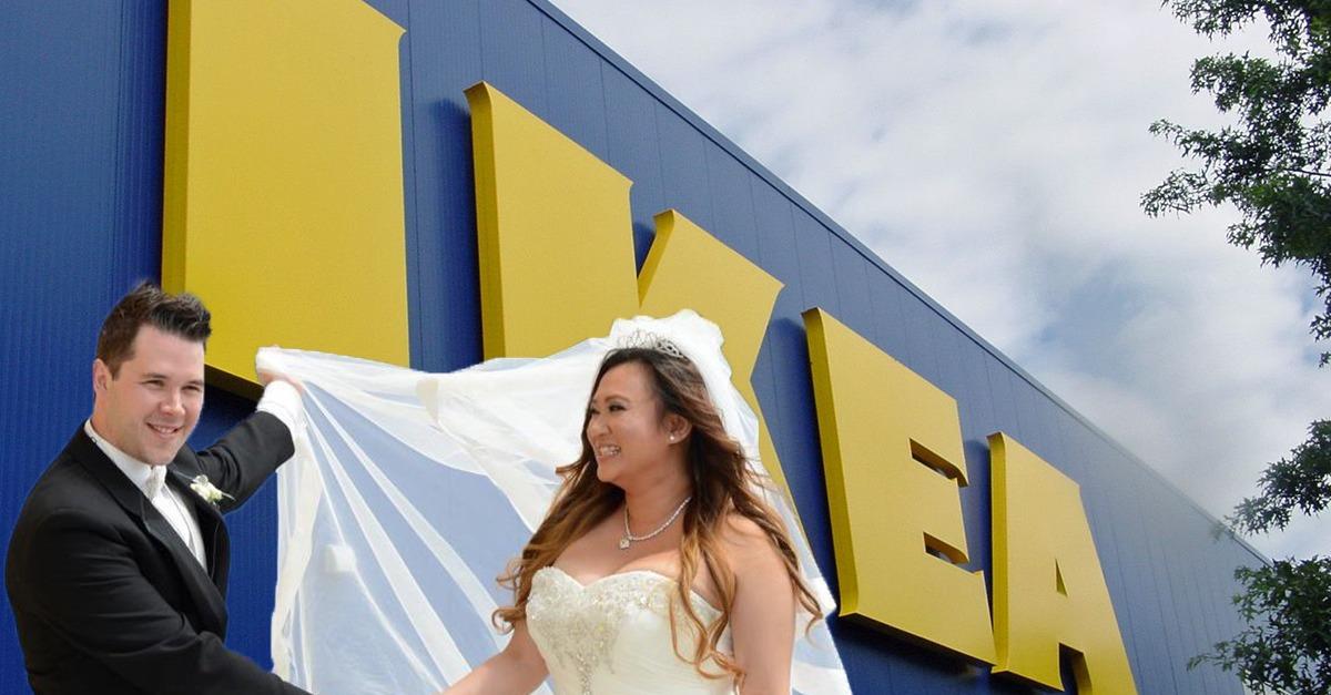 Eine IKEA Tasche Rettet Dieser Braut Ihr Hochzeitskleid