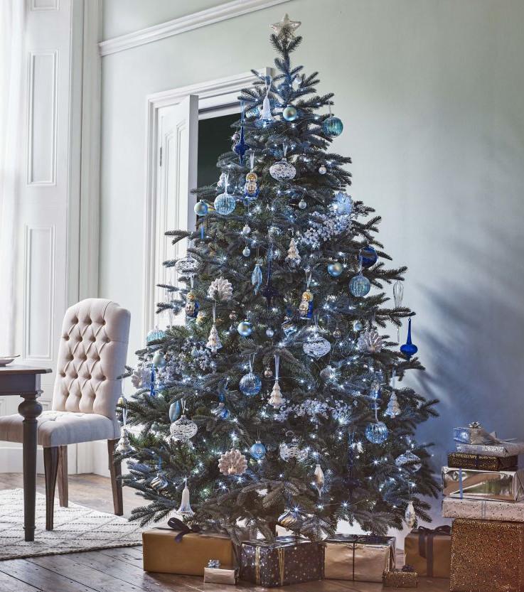 weihnachtsbaum blau gold frohe weihnachten 2019 2020. Black Bedroom Furniture Sets. Home Design Ideas