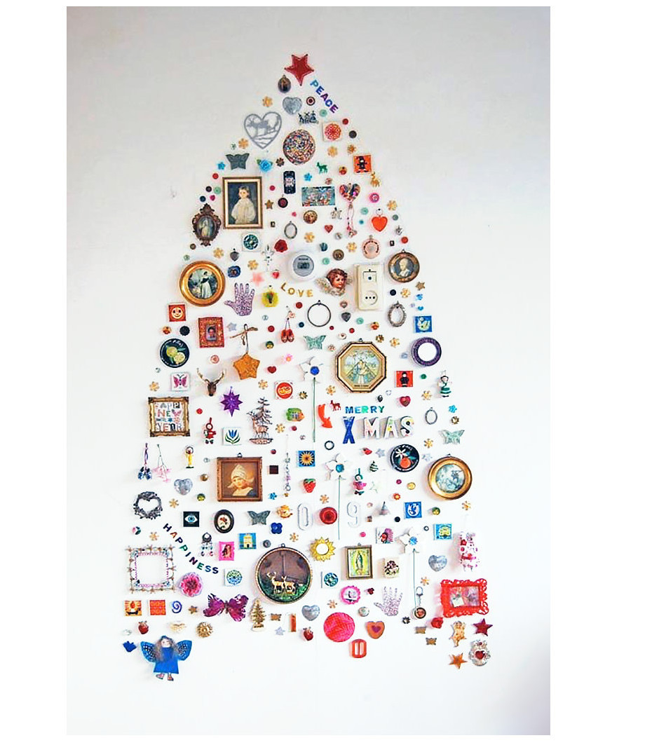 Weihnachtsbaum aus Stickern