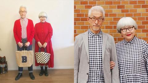 Ehepaar aus Japan: Seit 37 Jahren im Partnerlook!