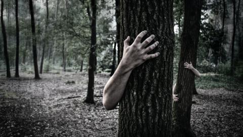 Familie entdeckt gruselige Zombie-Frau in ihrem Garten (Video)