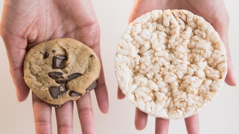 Mythos kalorienarmer Snack: Der glykämische Index der Reiswaffel ist höher als 50