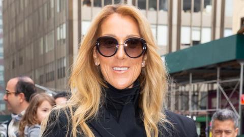 Céline Dion begeistert das Internet in einem grellen Trainingsanzug