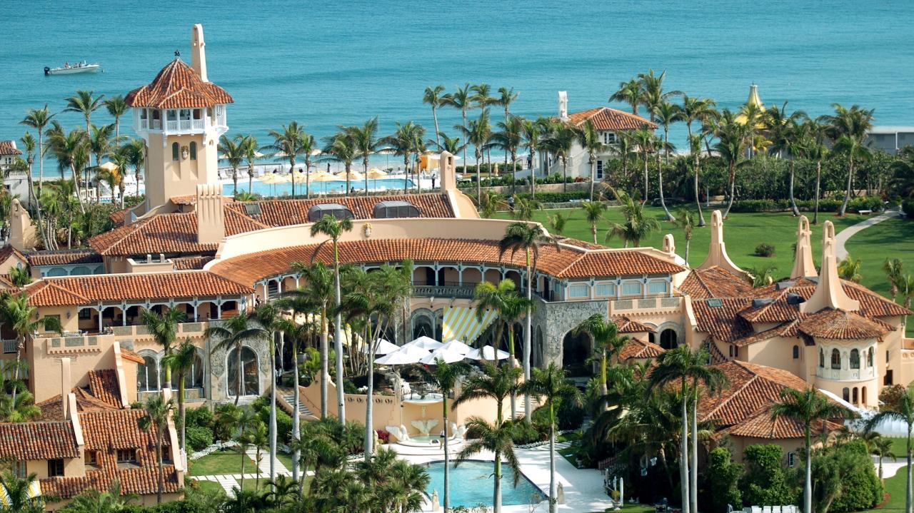 Trumps Umzug: Wir geben Einblick in sein luxuriöses Anwesen mit 58 Schlafzimmern und 33 Bädern